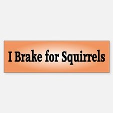 I Brake for Squirrels 2 Bumper Bumper Bumper Sticker