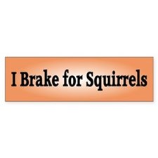 I Brake for Squirrels 2 Bumper Bumper Sticker