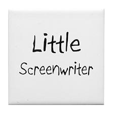 Little Screenwriter Tile Coaster