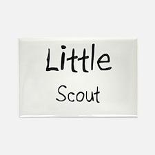Little Scout Rectangle Magnet