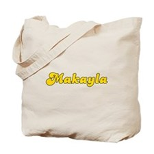 Retro Makayla (Gold) Tote Bag