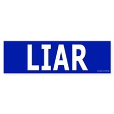 Liar Bumper Bumper Sticker