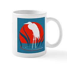 White Crane Mug