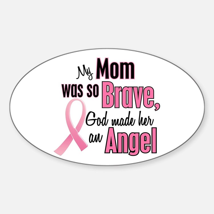 Angel 1 (Mom BC) Oval Decal
