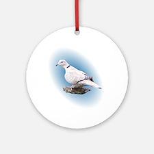 Collard Dove Ornament (Round)