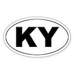 KY (Kentucky) Oval Sticker