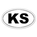 KS (Kansas) Oval Sticker