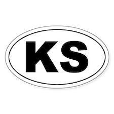 KS (Kansas) Oval Decal