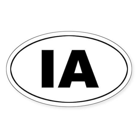 IA (Iowa) Oval Sticker