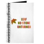 LEAF NO STONE UNTURNED Journal