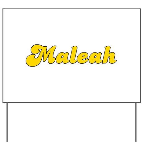 Retro Maleah (Gold) Yard Sign