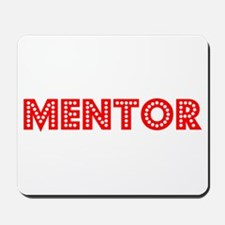 Retro Mentor (Red) Mousepad