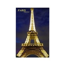Night Eiffel Rectangle Magnet