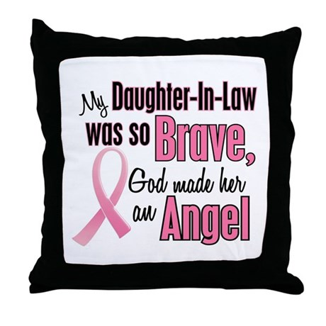 Angel 1 (Daughter-In-Law BC) Throw Pillow