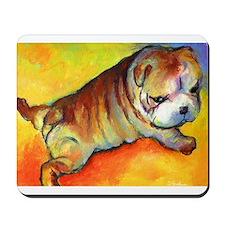 Bulldog puppy  Mousepad