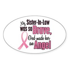 Angel 1 (Sister-In-Law) Oval Decal