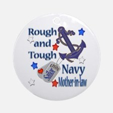Anchor Sailor Mother-in-law Ornament (Round)
