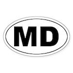 MD (Maryland) Oval Sticker