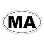 MA (Massachusetts) Oval Sticker