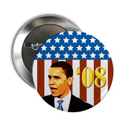 Ten Barack Obama '08 Patriotic Campaign Buttons