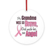 Angel 1 (Grandma BC) Ornament (Round)