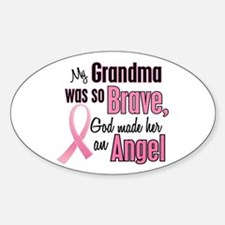 Angel 1 (Grandma BC) Oval Decal