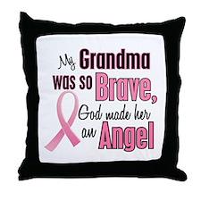 Angel 1 (Grandma BC) Throw Pillow