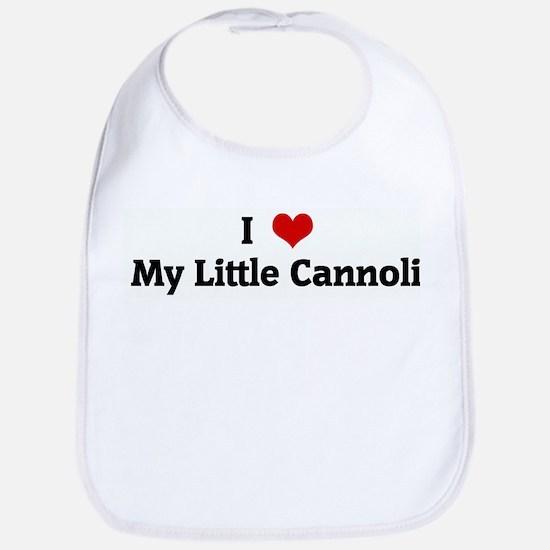I Love My Little Cannoli Bib