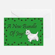 New Westie Greeting Card