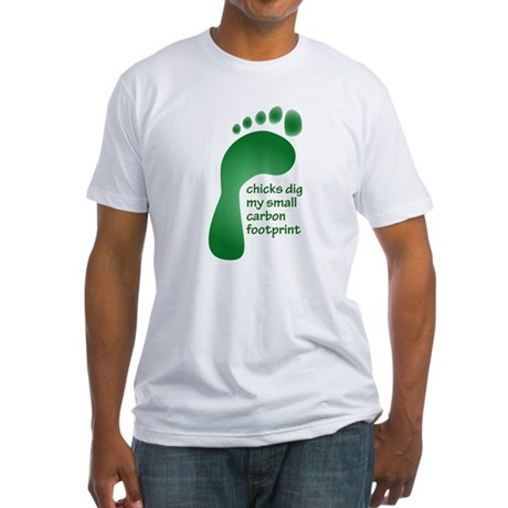 Carbon Footprint Fitted T-Shirt