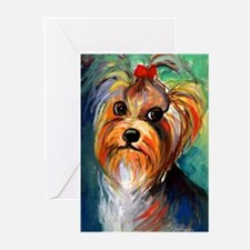 Yorkshire Terrier #1 Greeting Cards (Pk of 10)