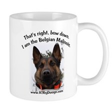 Bow Down Belgian Malinois Mug