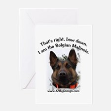 Bow Down Belgian Malinois Greeting Card