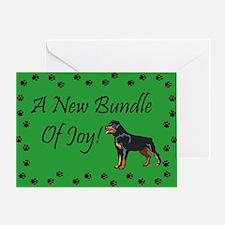 New Rottweiler Greeting Card