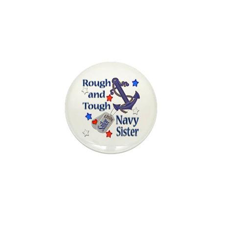 Anchor Sailor Sister Mini Button