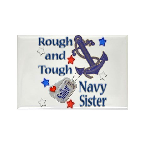 Anchor Sailor Sister Rectangle Magnet (100 pack)