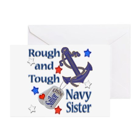 Anchor Sailor Sister Greeting Cards (Pk of 10)