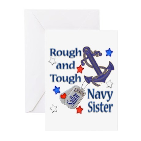 Anchor Sailor Sister Greeting Cards (Pk of 20)