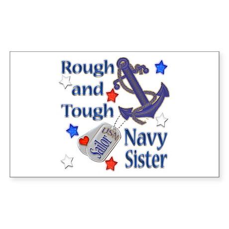 Anchor Sailor Sister Rectangle Sticker