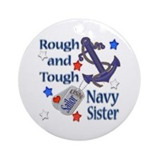 Anchor Sailor Sister Ornament (Round)