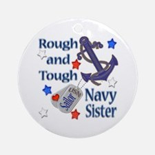 Anchor Sailor Sister Ornament (Round)