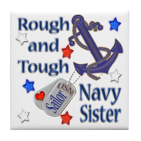 Anchor Sailor Sister Tile Coaster