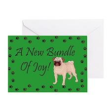 New Pug Greeting Card