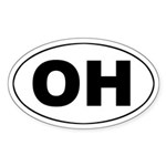 OH (Ohio) Oval Sticker