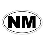 NM (New Mexico) Oval Sticker