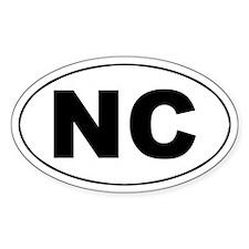 NC (North Carolina) Oval Decal