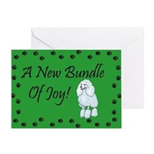 New Poodle Greeting Card