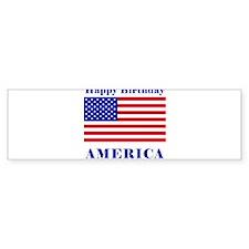 Happy Birthday America Bumper Bumper Sticker