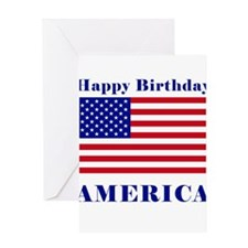 Happy Birthday America Greeting Card