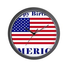 Happy Birthday America Wall Clock